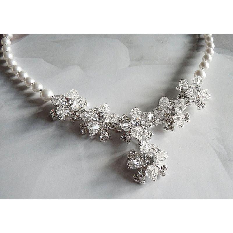 Brautschmuck perlenkette  Design Brautschmuck handgefertigt Perlenkette zur Hochzeit ...