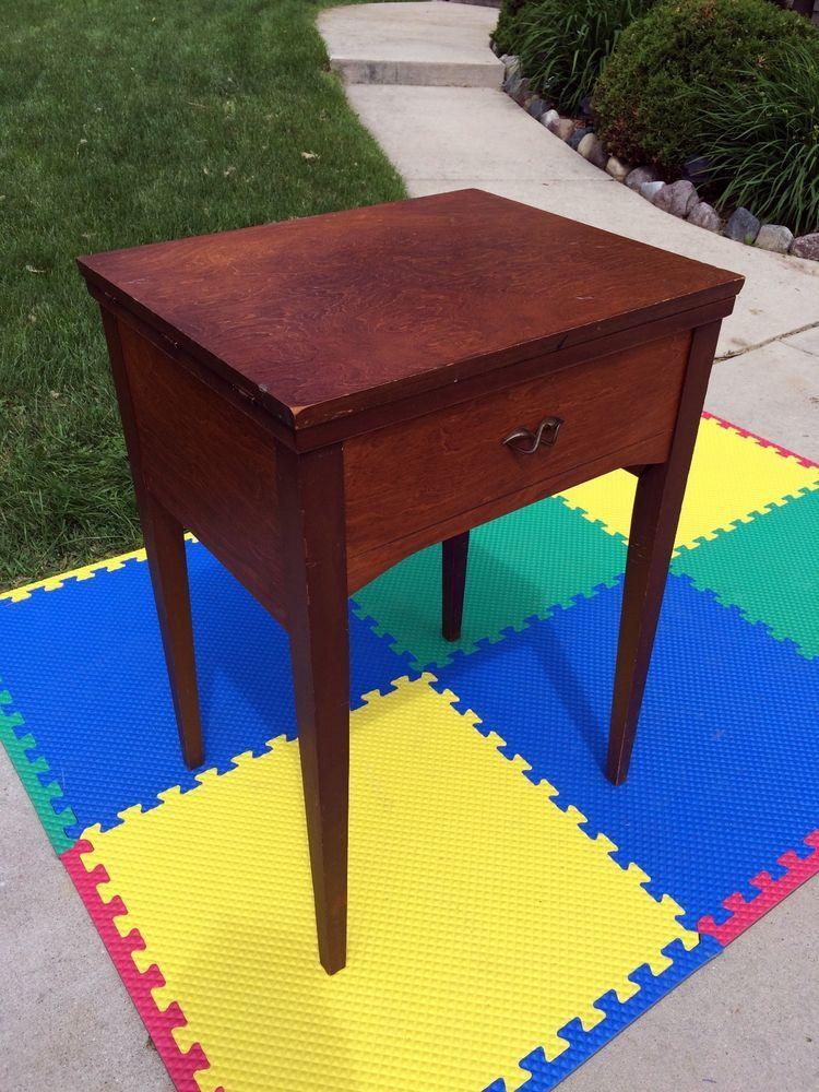 Rare Vintage Empty Sears 4040 Kenmore 40 Sewing Machine Cabinet Inspiration Kenmore Sewing Machine Cabinet Ebay