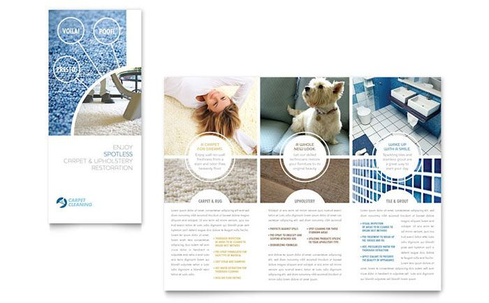 Carpet Cleaners Tri Fold Brochure Design Template By Stocklayouts