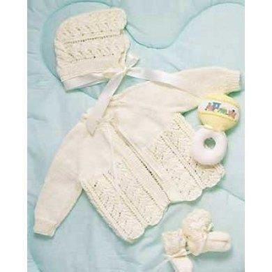Knitting Pattern PDF Set Baby Layette in Bernat Baby.Size 0-3 m ...