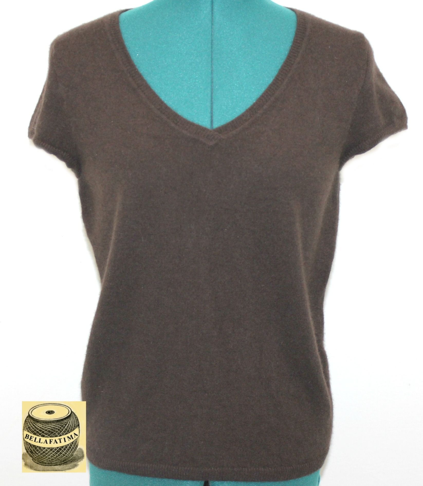 Dark Brown Cashmere Sweater by Evelyn Grace. $25.00 | All New ...