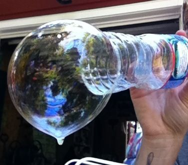My homemade bubble blower a water bottle crafts upcycle for How to make a bubble blower from a water bottle