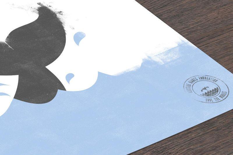 Digitaldruck - Save The Whales - ein Designerstück von DiplomatOfStyle bei DaWanda