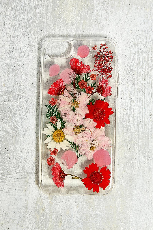 Recover - Coque pour iPhone 6/6s/7/8 fleurs séchées rouge | Flower ...