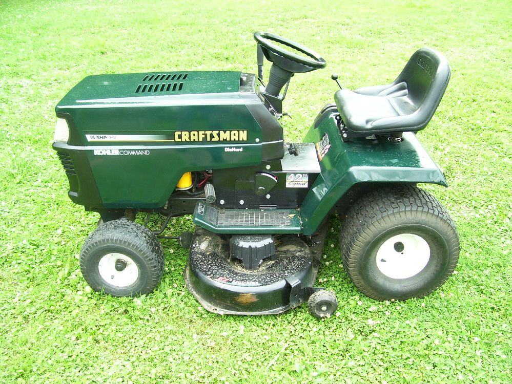 Old Craftsman Garden Tractors : Craftsman gt hp mower garden tractor mov youtube