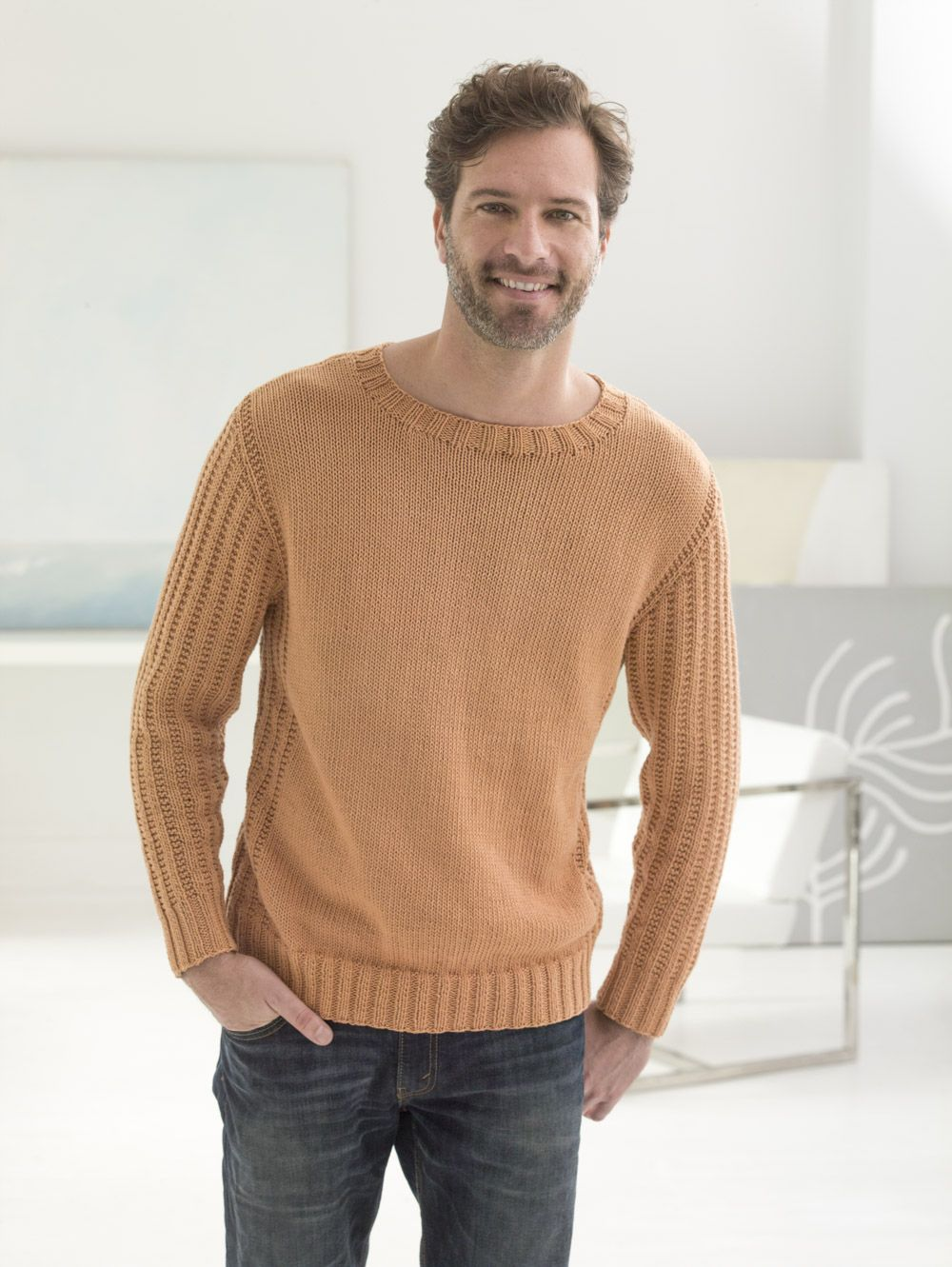 This classic cotton pullover is loved by men and women alike get this classic cotton pullover is loved by men and women alike get the free knitting pattern and make it with lion brand cotton bankloansurffo Choice Image