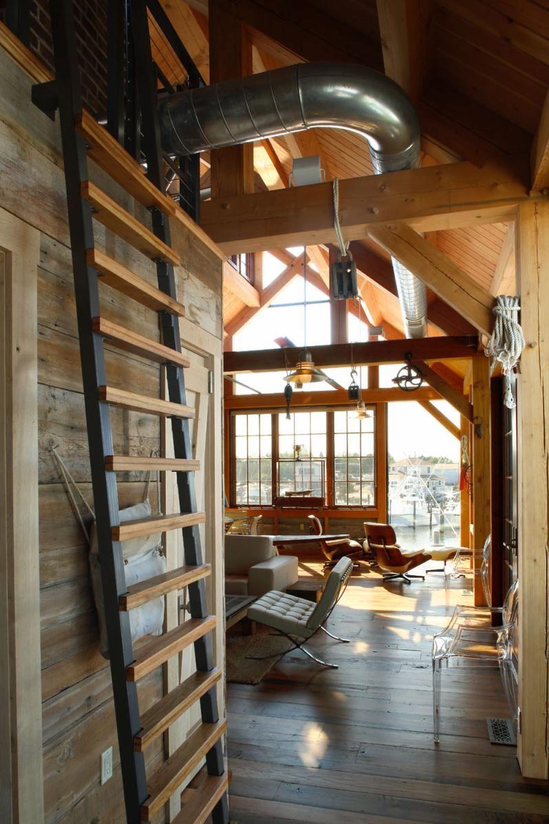 Timber frame by Hugh Lofting Timber Framing   Boat House   Pinterest ...