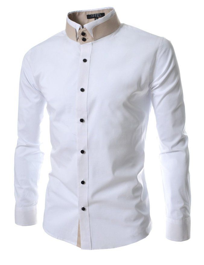 TheLees Mens unique double collar shirts at Amazon Men's Clothing ...