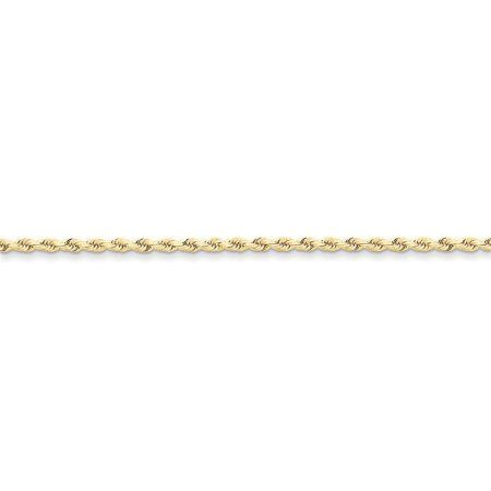 10k White Gold 1.5mm Solid Polished Cable Chain Anklet Secure Lobster Clasp 9inch Ideal For Women