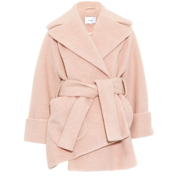 Carven Pink Oversize Asymmetric Wool-Blend Coat found on Polyvore ...