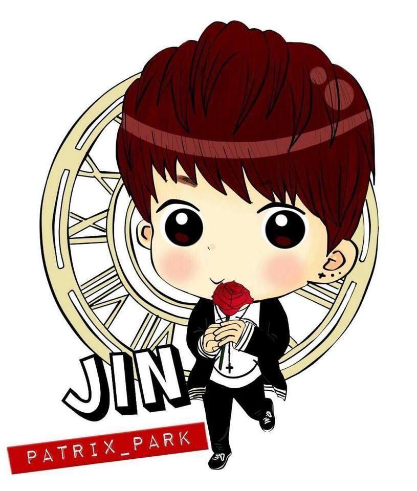 Jin Cartoon Dengan Gambar Jins Bts