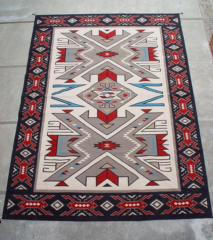 J 01  Navajo Textiles  10u0027 X 14u0027 Southwest Area Rug Teec Nos Pos  Style Contemporary Len Woodu0027s Indian Territory
