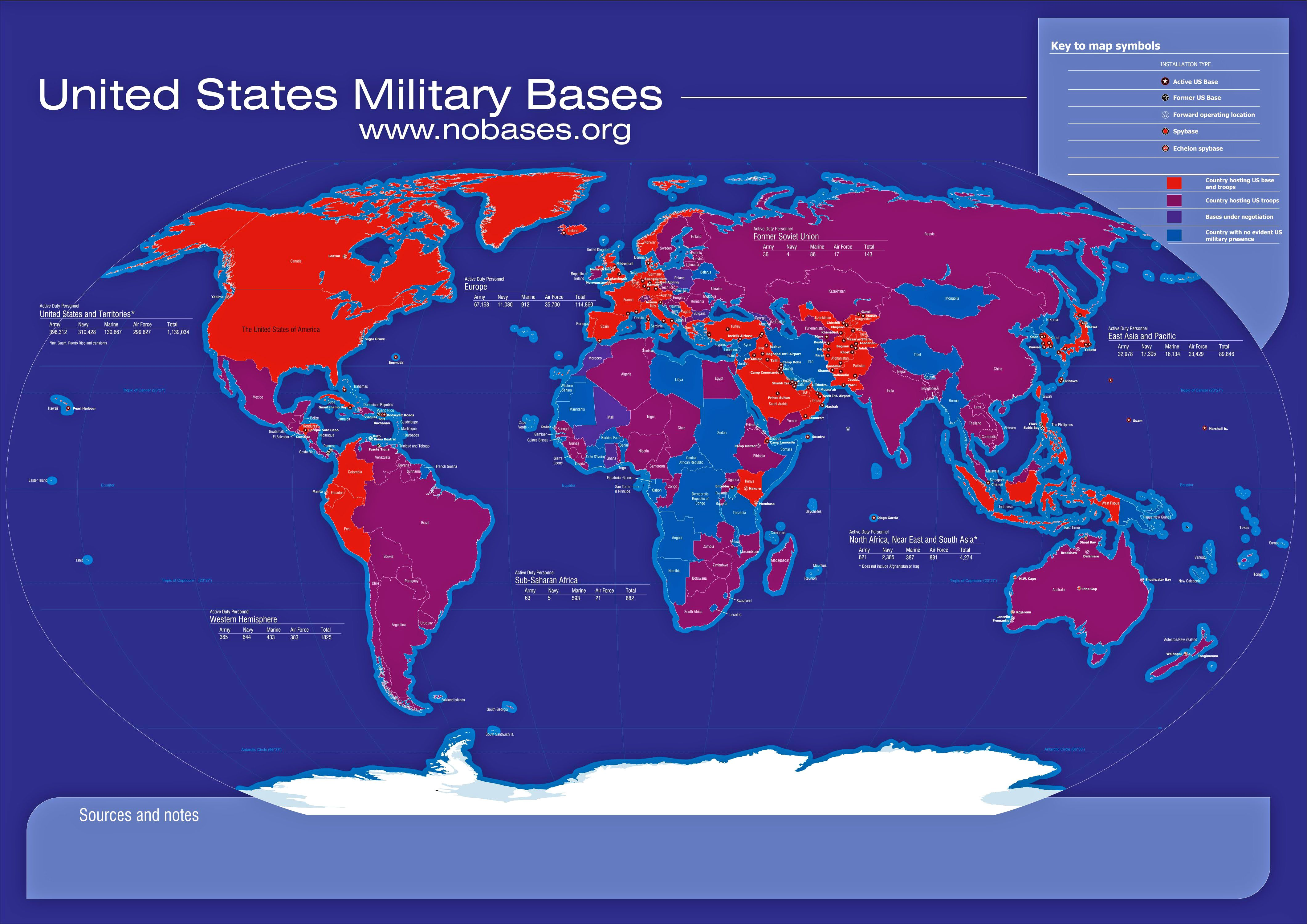 Usan Security Alliance Asia Matters For America By The East Us Navy Bases Worldwide Map