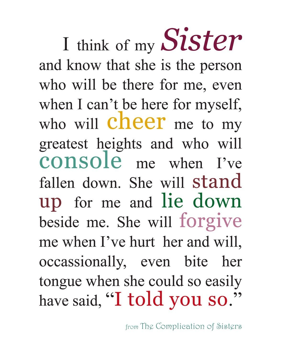 Love Sister Sister Quotes Quotes Love My Sister
