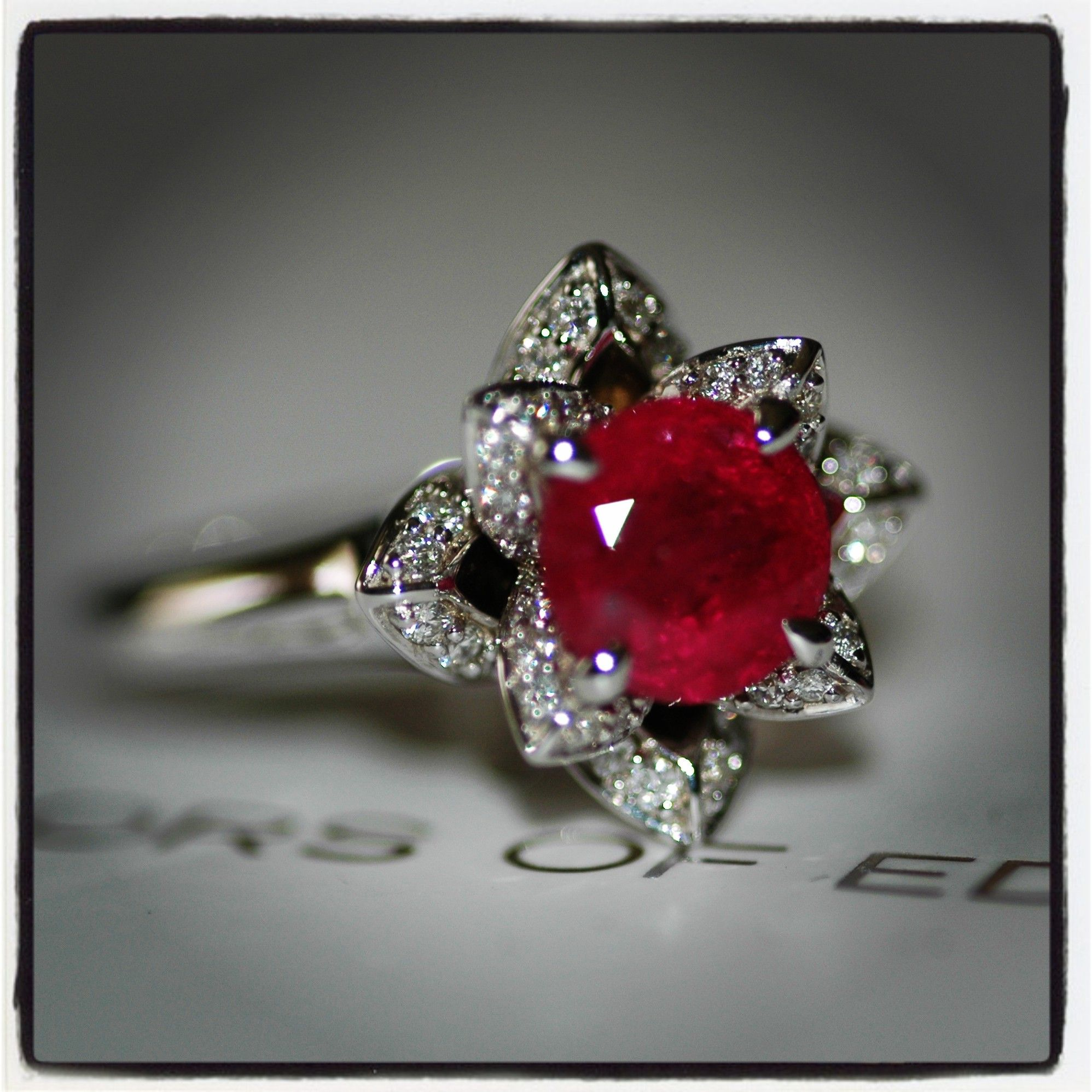 lotus mcclelland rings platinum diamond mcteigue ring engagement d ruby item