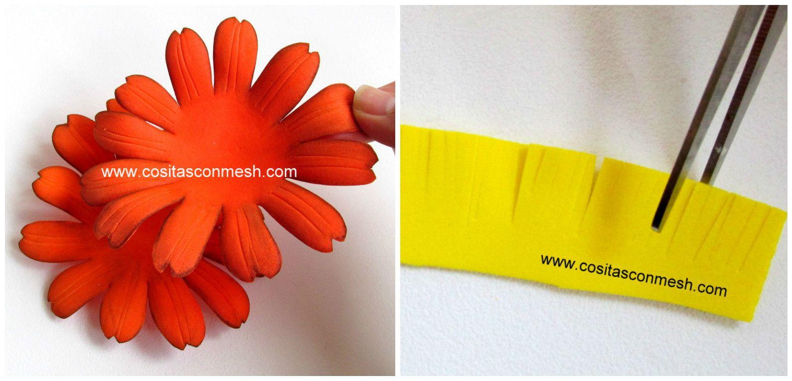 Cmo Hacer Flores De Goma Eva Free Materiales Usados En El Trabajo
