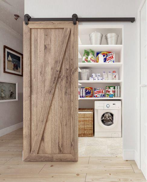 LePetitChouchou wwwlepetitchouchoubr Idée salle de lavage - creer une porte coulissante