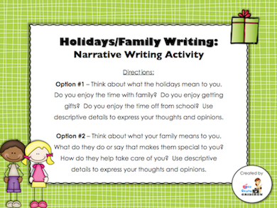 Day 14 Freebie - personal narrative writing prompts/papers ...