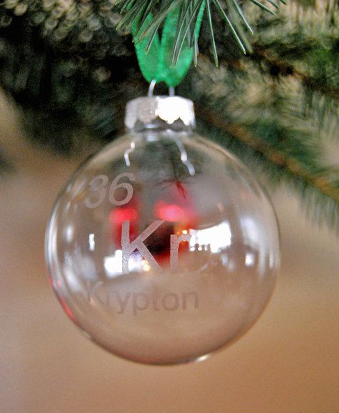 Science Facts Christmas: Krypton Periodic Table Of The Elements Ornament