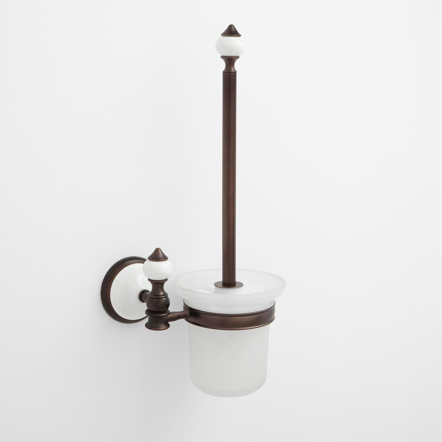 Adelaide Wall Mount Toilet Brush Holder In Polished Brass Signature Hardware Wall Mounted Toilet Toilet Brush Toilet