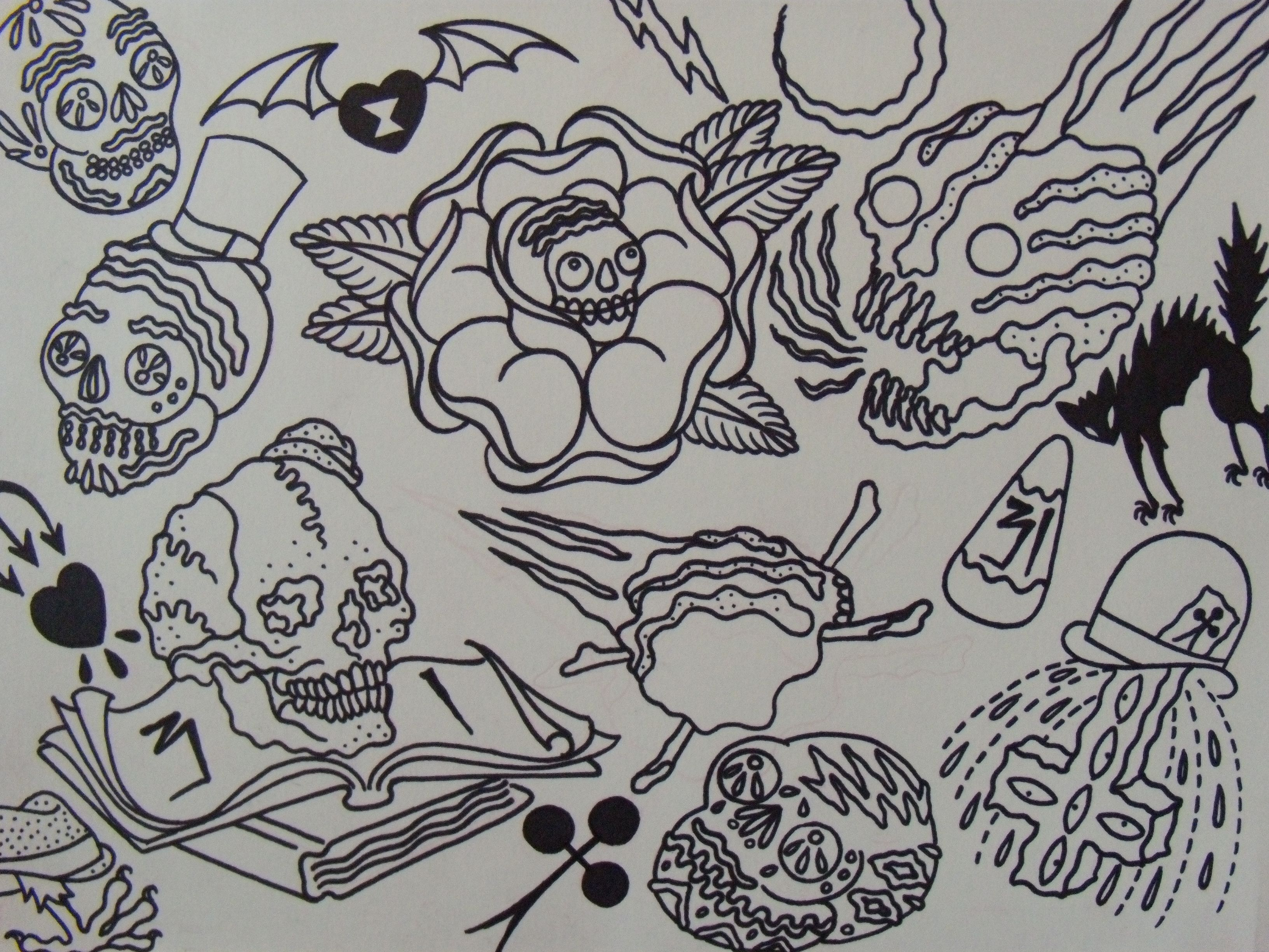 Halloween Tattoos and Designs Page 100 Flash tattoo