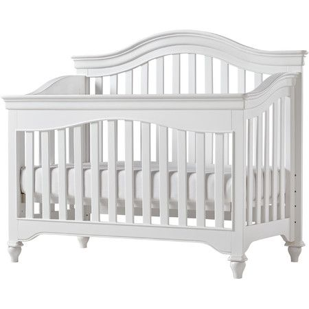 This Cozy Crib Features A Convertible Design To Grow With Your Child While Its Traditional Look Complements Any Convertible Crib Convertible Crib White Cribs