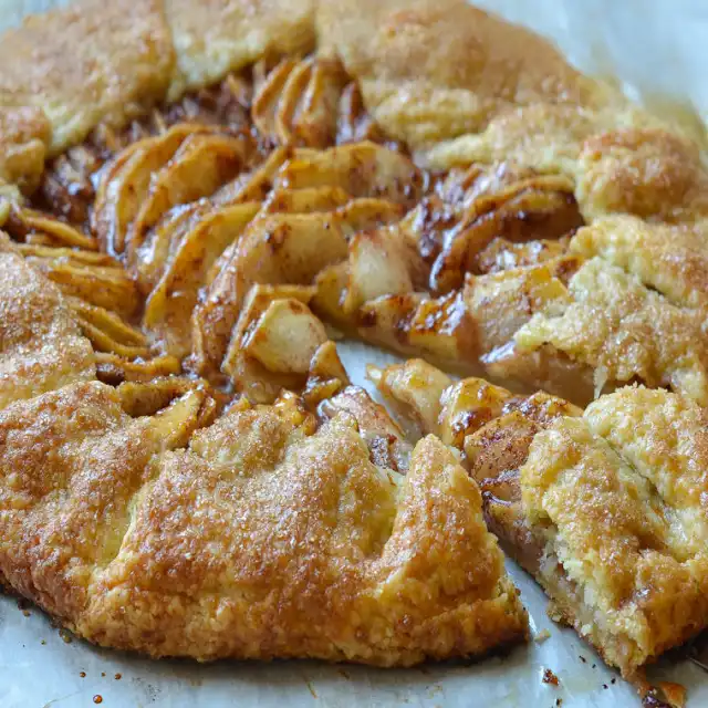 Rustic French Apple Tart Recipe | Yummly