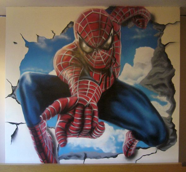 Spiderman Wall Mural spiderman bedroom mural noah would love this!!! | decor ideas