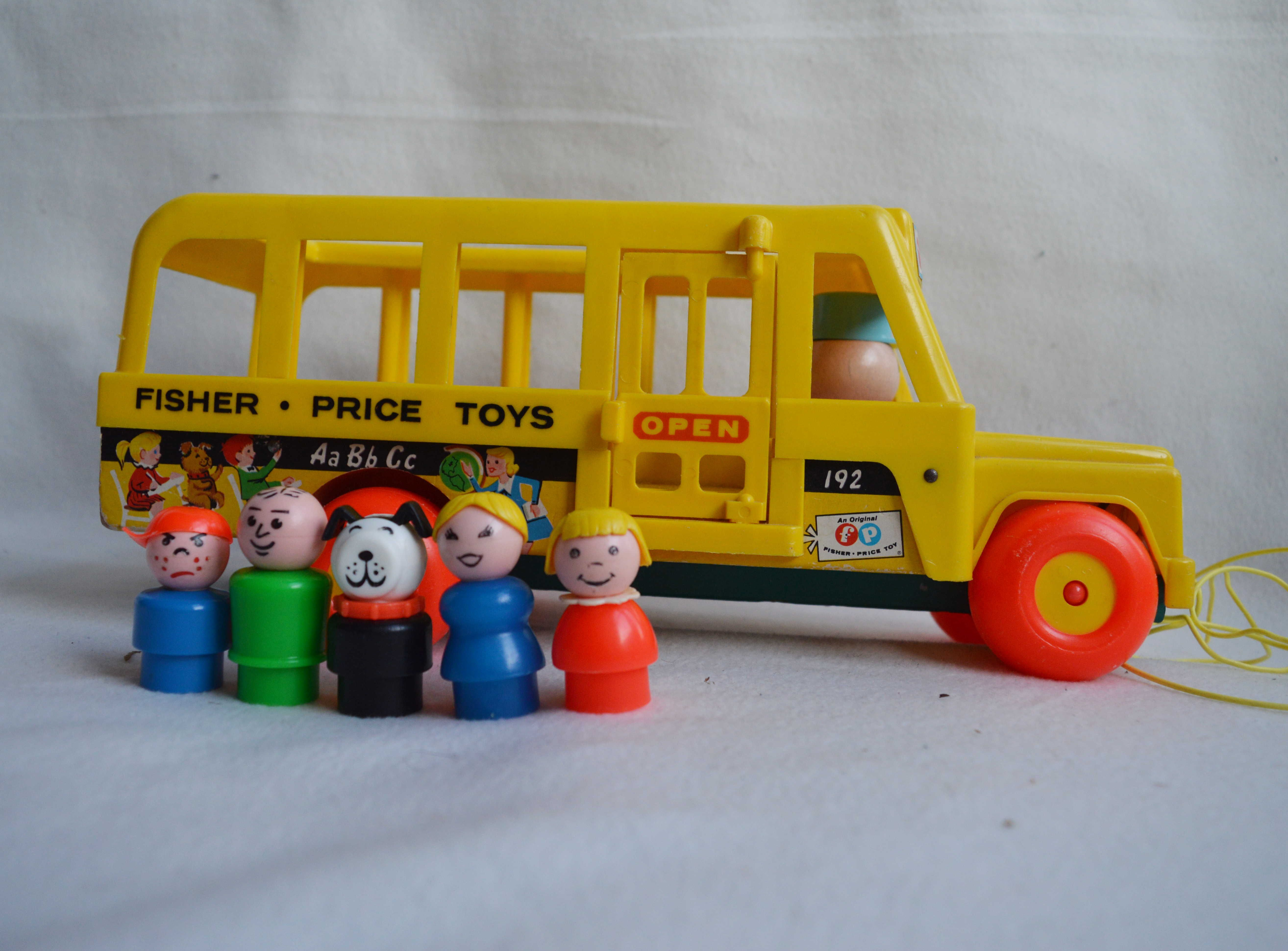 Vintage Fisher Price School Bus | FisherPrice Schoolbus | 192 ...
