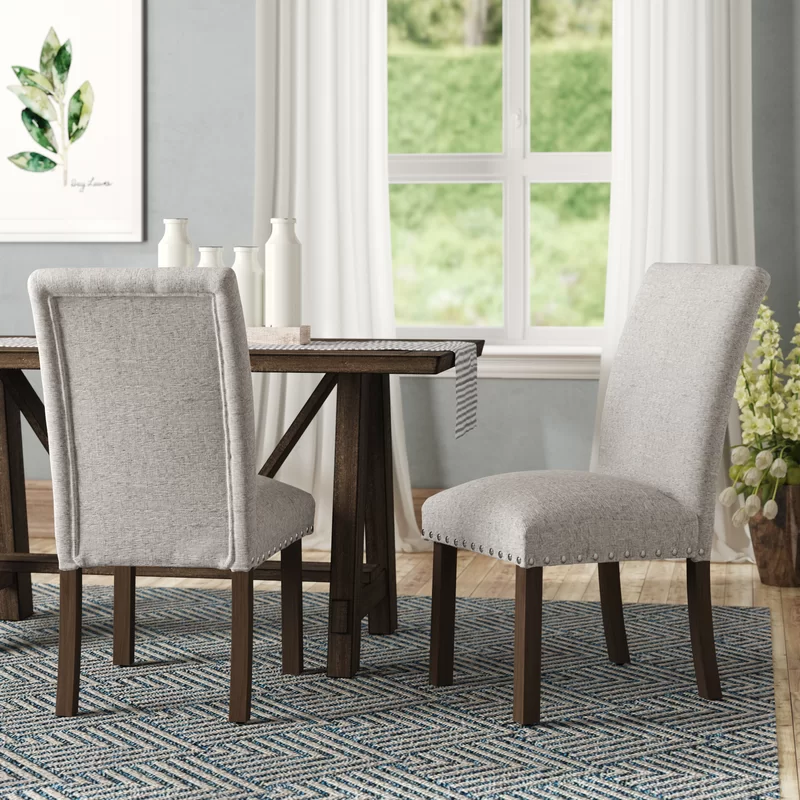 Avers Side Upholstered Dining Chair In 2020 Upholstered Dining Chairs Dining Chair Upholstery Solid Wood Dining Chairs