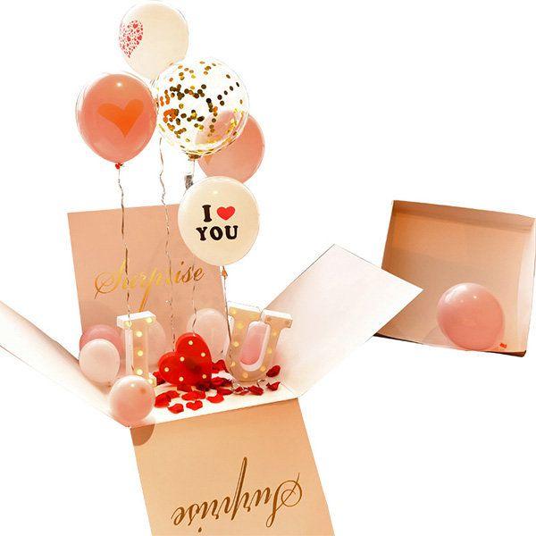 Surprise Balloon Box Unassembled From Apollo Box In 2021 Balloon Box Surprise Box Gift Balloons