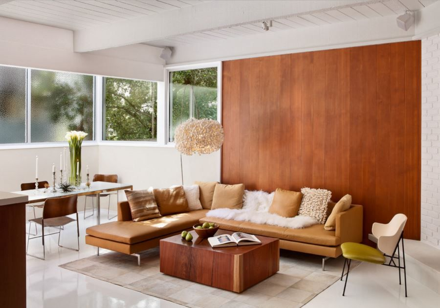 20 Rooms With Modern Wood Paneling Mid Century Modern Living Room Living Room Modern Mid Century Living Room