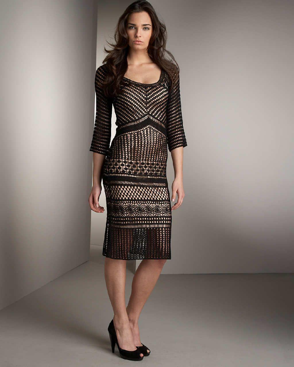 Crinochet: Neiman Marcus Black Dress