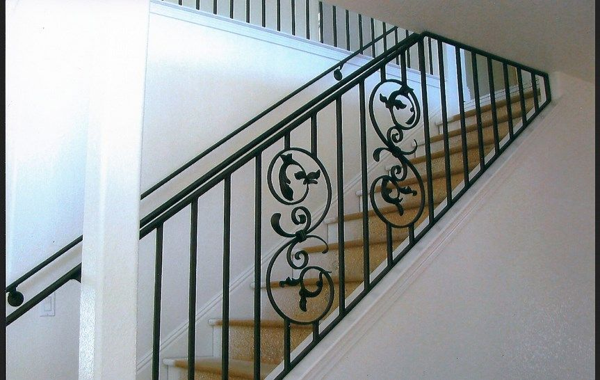 Balkon Minimalis Google Search Wrought Iron Stair Railing Wrought Iron Stairs Iron Railing