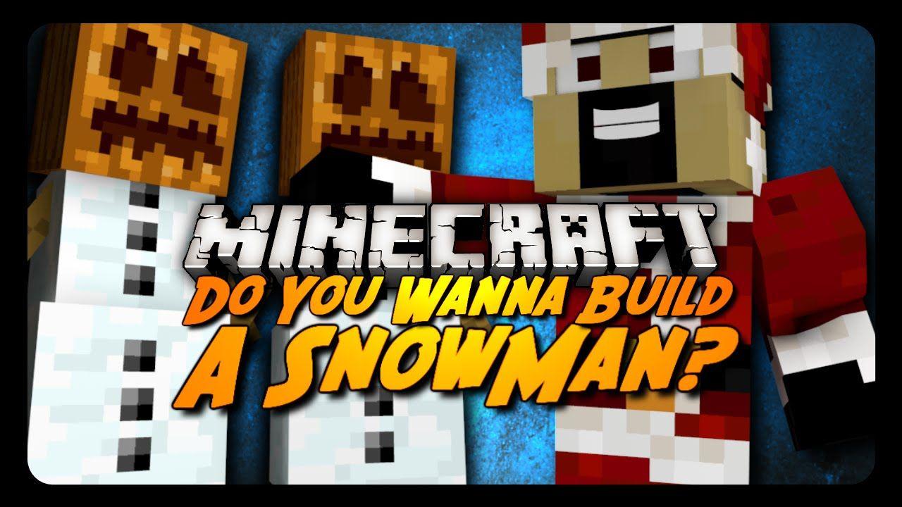 Minecraft DO YOU WANNA BUILD A SNOWMAN? (Snow Golem