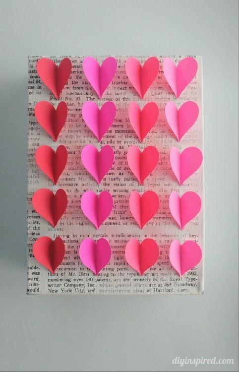 Diy Heart Wall Art Make It Pinterest Easy Paper Crafts Easy