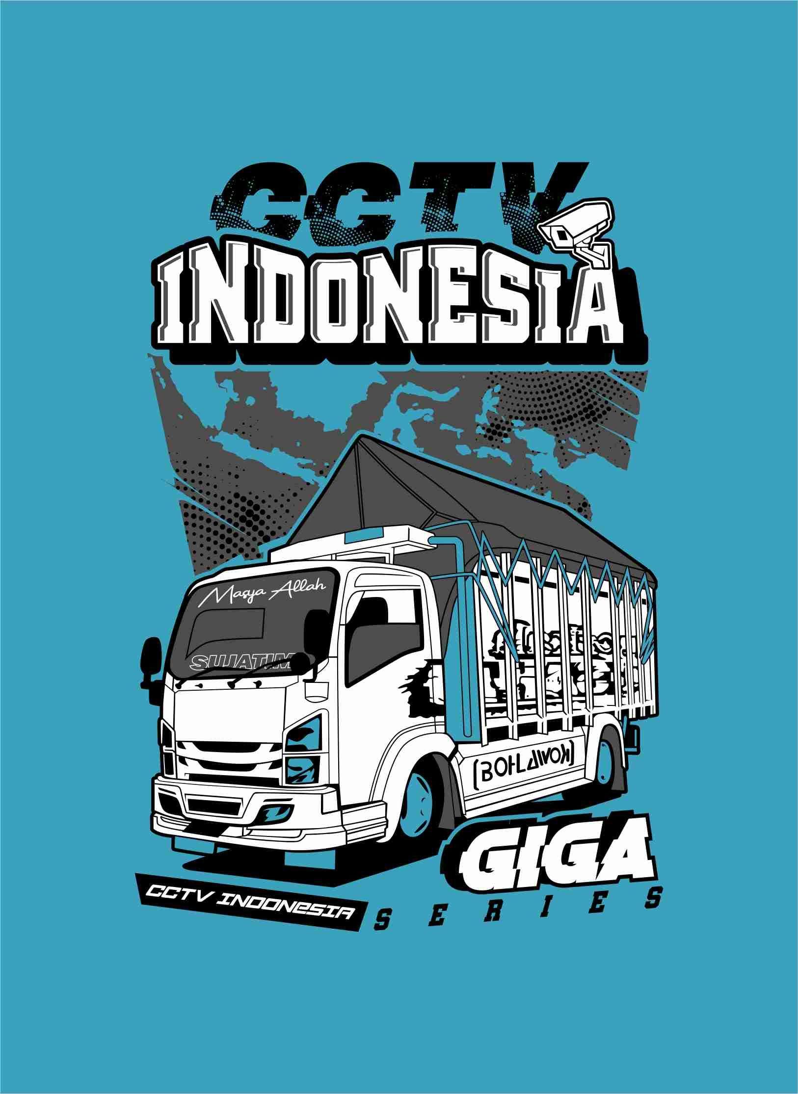 Truk Vector Cctv Indonesia Giga Series Desain Vektor Desain Logo Konsep Mobil