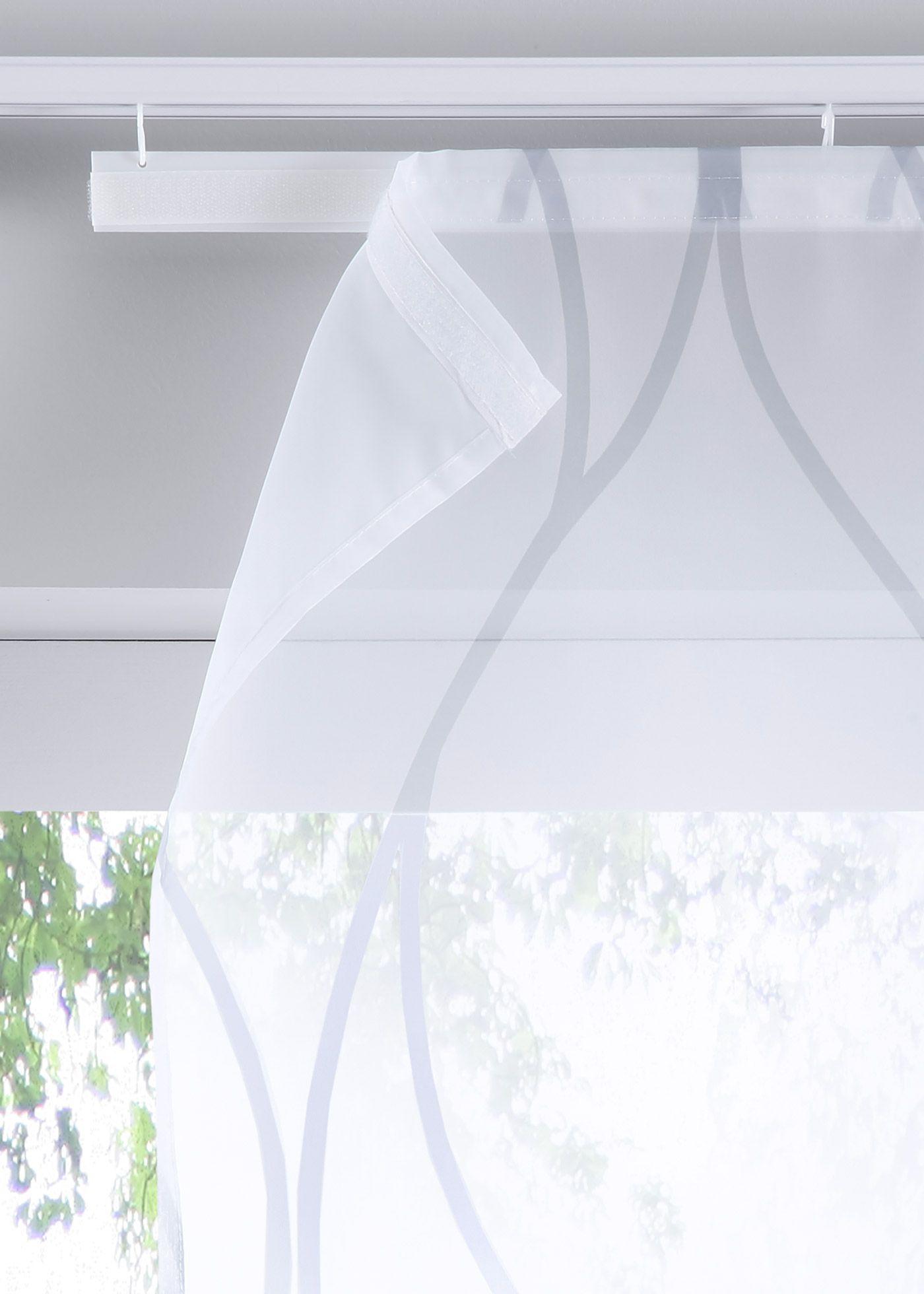 Schiebegardine Mit Druck 1er Pack Klettschiene In 2020 Gardinen Schiebegardine Und Vorhange Gardinen