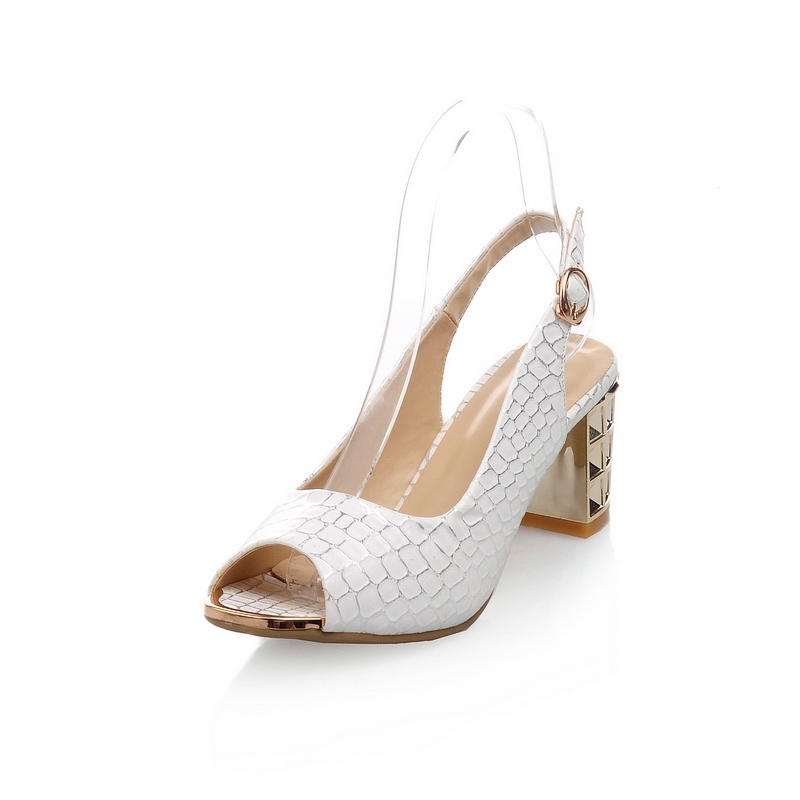 31.19$  Watch here - http://aliana.shopchina.info/go.php?t=32777612008 - new fashion women platform shoes for women high heels buckle strap ladies summer blue white sandals wedding shoes woman 31.19$ #bestbuy