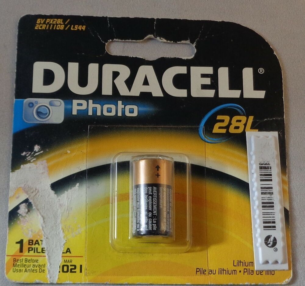 """NEW! """"DURACELL"""" 6 volt Lithium Photo Camera Battery"""