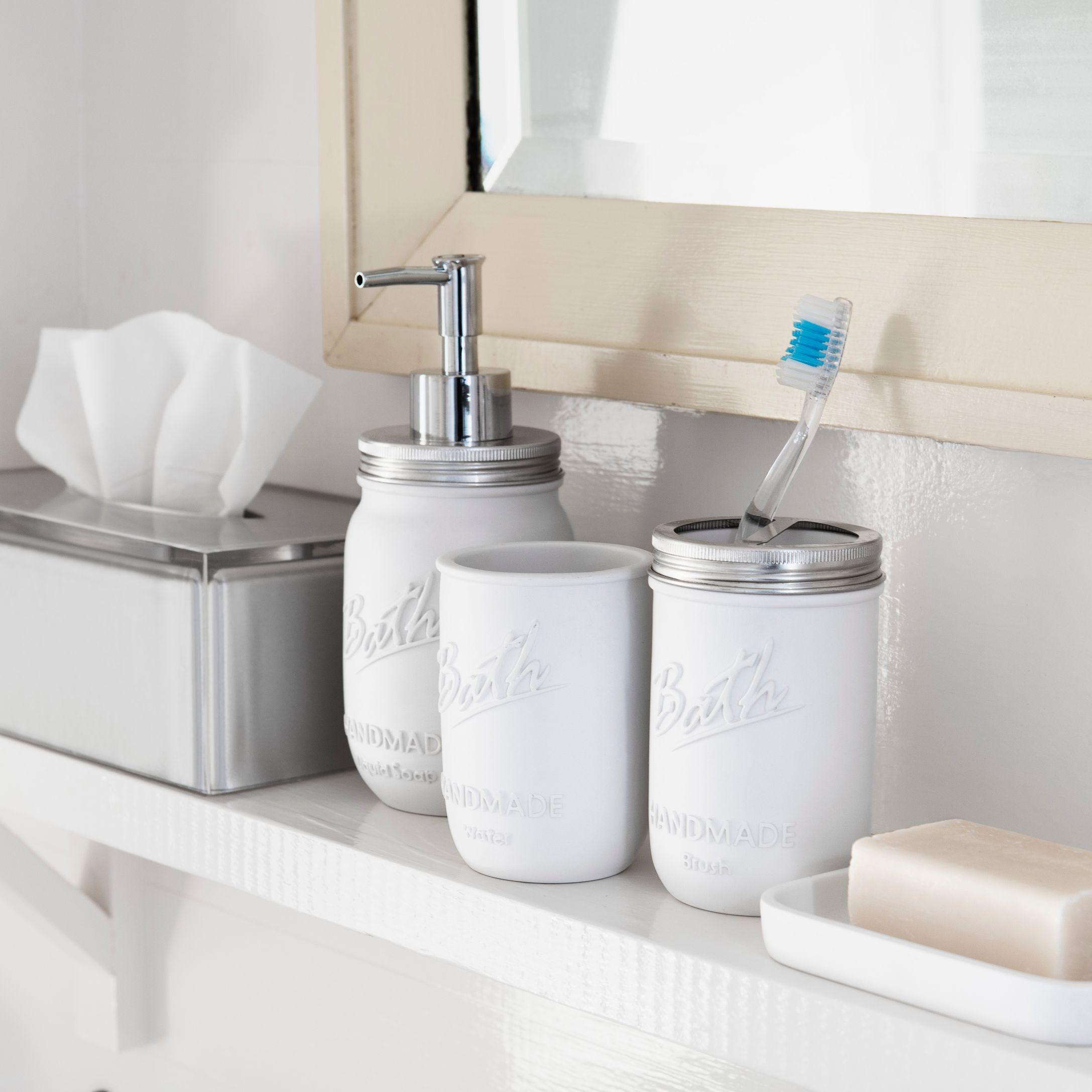 vintage jar accessories simons bathroom chalet masonjar decor maisonsimons