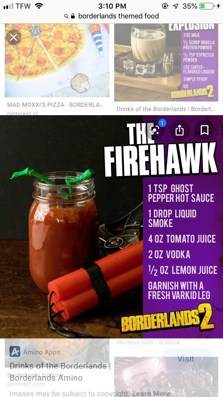 Pin By Kaylea Ham On Borderlands Rp Alcohol Drink Recipes Geek Food Drinking Tea