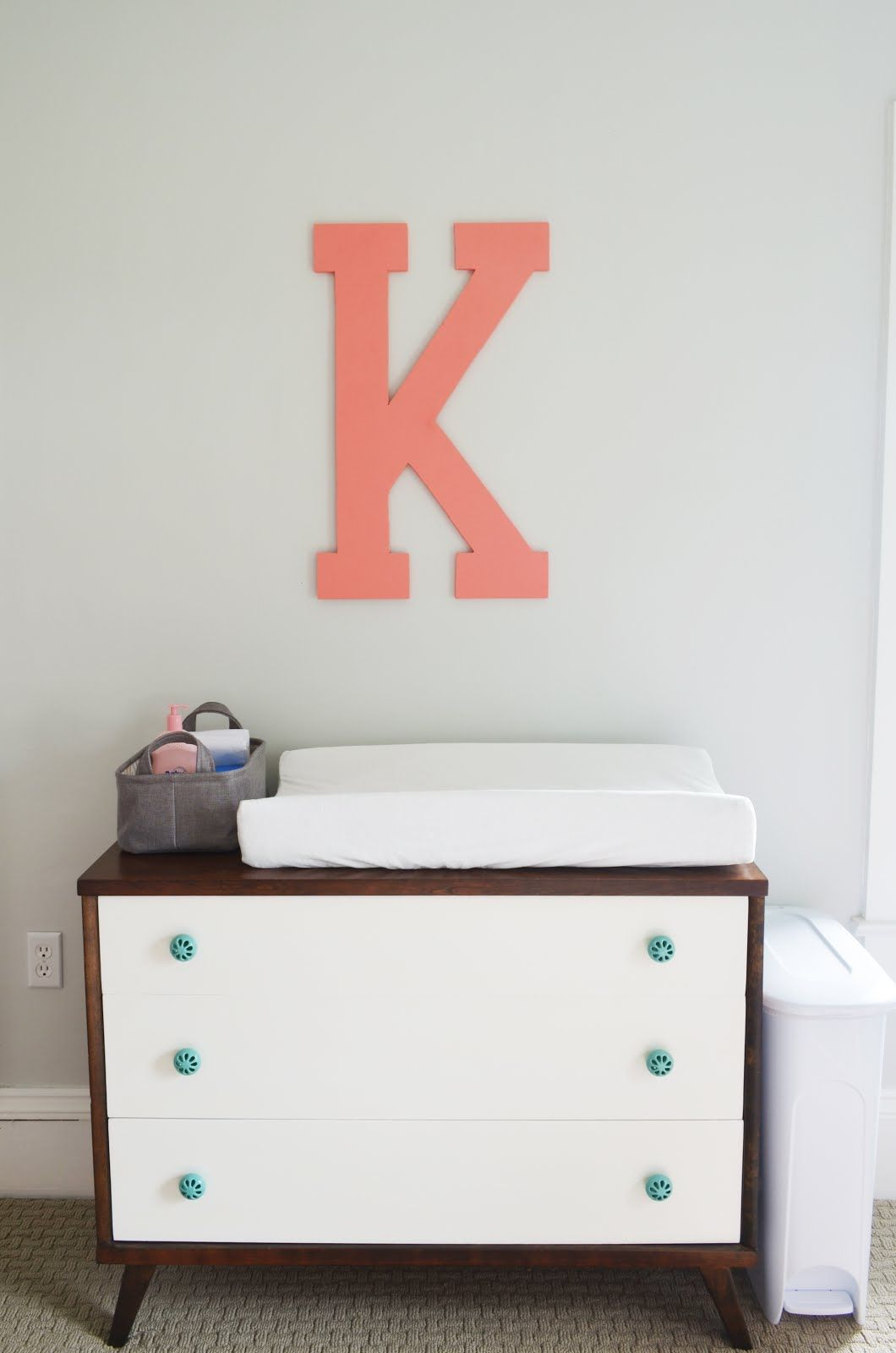 Two Toned Mcm Dresser With Aqua S From His And Hers