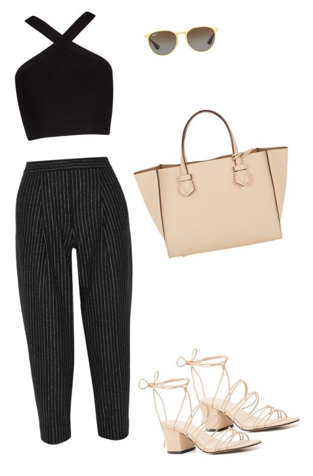 """Soho st. Shop"" by marta-isabella ❤ liked on Polyvore featuring Witchery, DKNY, BCBGMAXAZRIA, Moreau and Ray-Ban"
