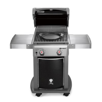 Weber Spirit E 210 2 Burner Propane Gas Grill Featuring The Gourmet Bbq System 46113101 The Home Depot Best Gas Grills Gas Grill Small Grill