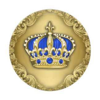 royal+prince+baby+shower+decorations   Prince Crown Royal Blue Prince Baby Shower 7 Inch Paper Plate