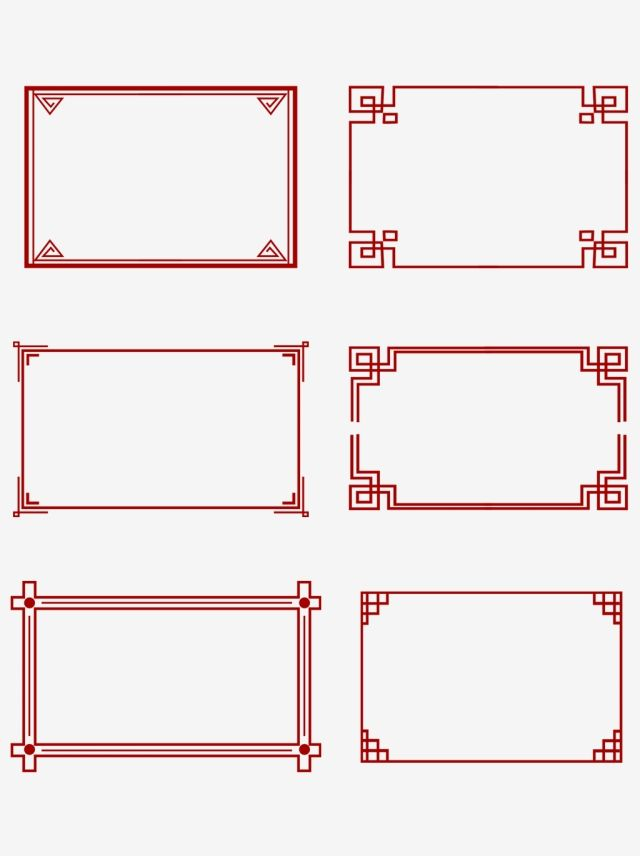 Simple Atmosphere Chinese Style Border Creative Classical Red Rectangle Clipart Chinese Style Border Frame Png Transparent Clipart Image And Psd File For Fre Chinese Style Design Chinese Style Chinese Patterns