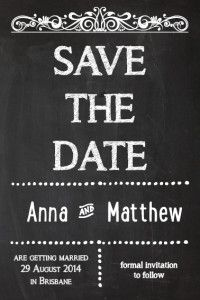 diy save the date card chalkboard design print your own