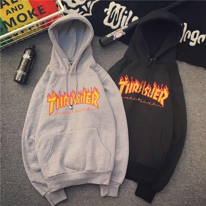 a8998359eb5a  9.99 - Men Women Hoodie Sweater Hip-Hop Skateboard Thrasher Sweatshirts  Pullover Coats  ebay  Fashion