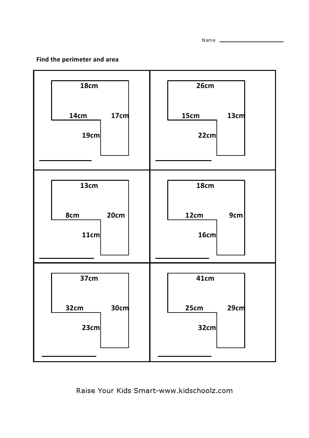 Composite shapes worksheet 6th grade